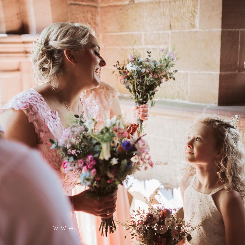 bridesmaid waiting in church