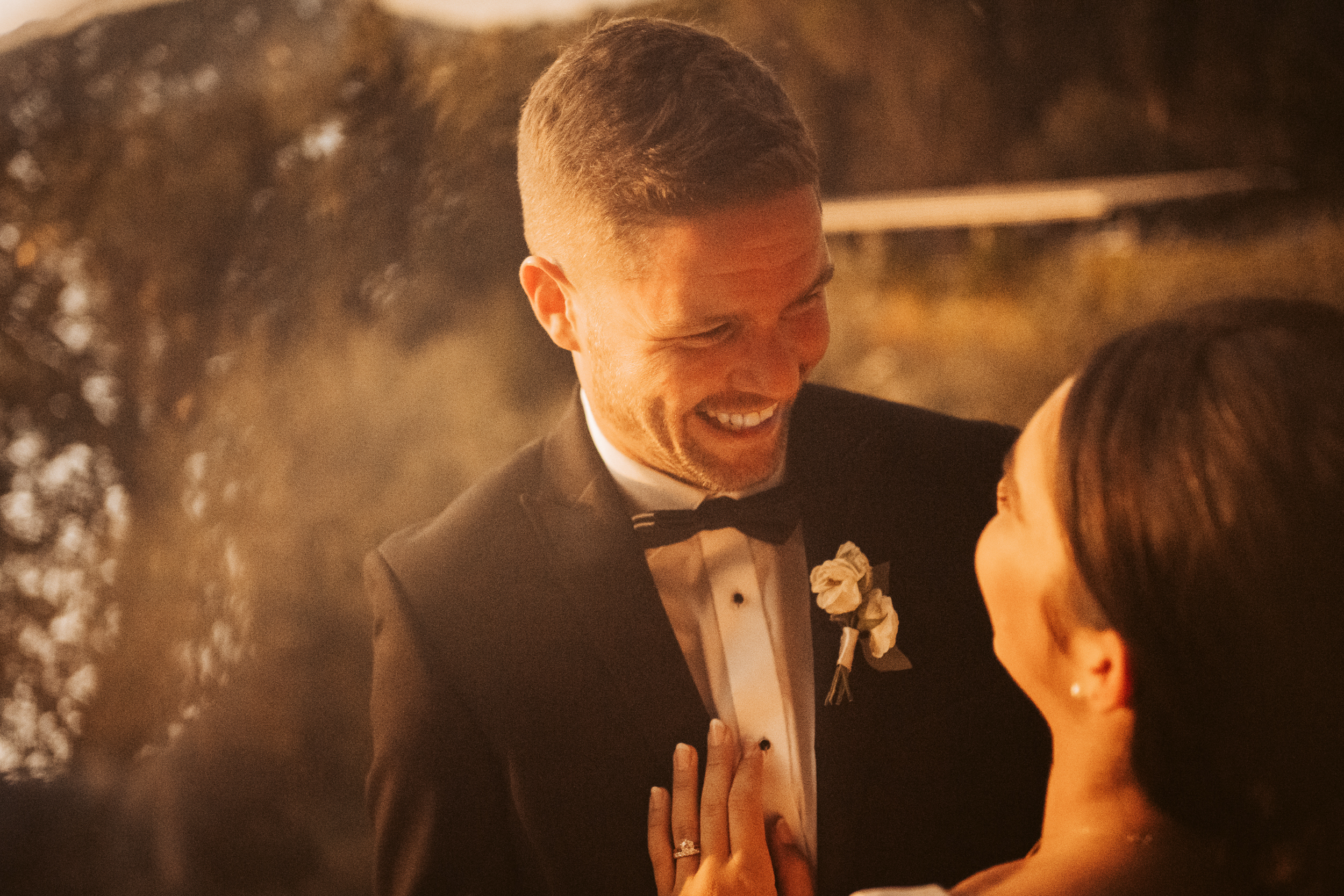 groom smiling in Italy