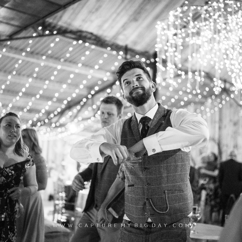 groom in the evening