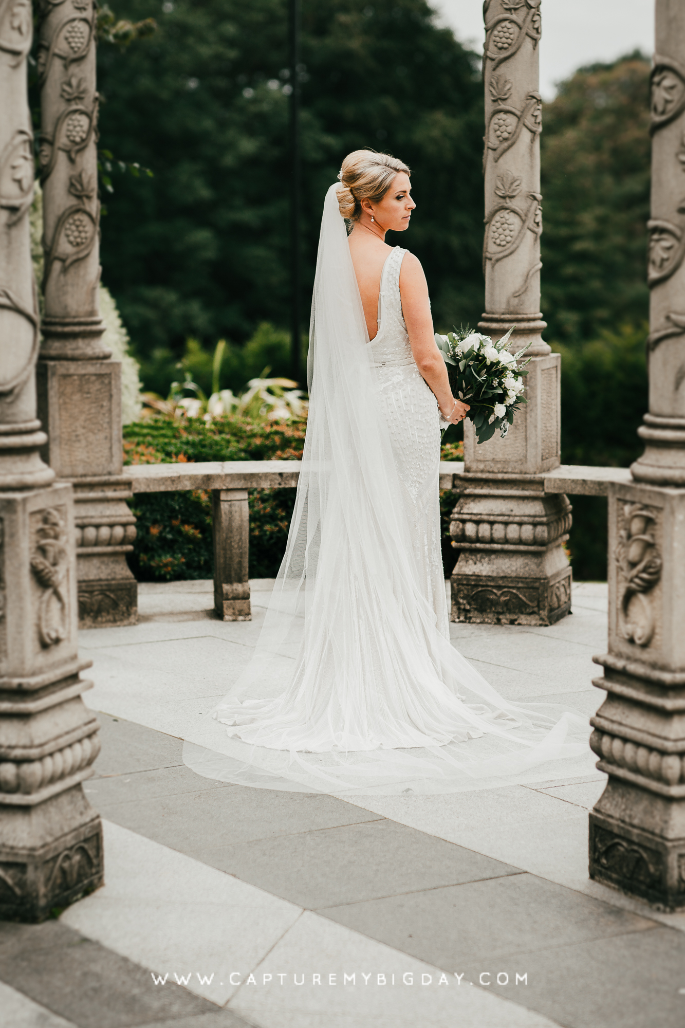 Bride outside Hillbark