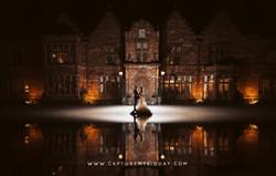 Wrenbury Hall at night