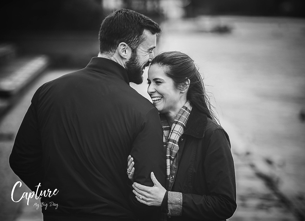 Engagement photographs by the river in Chester