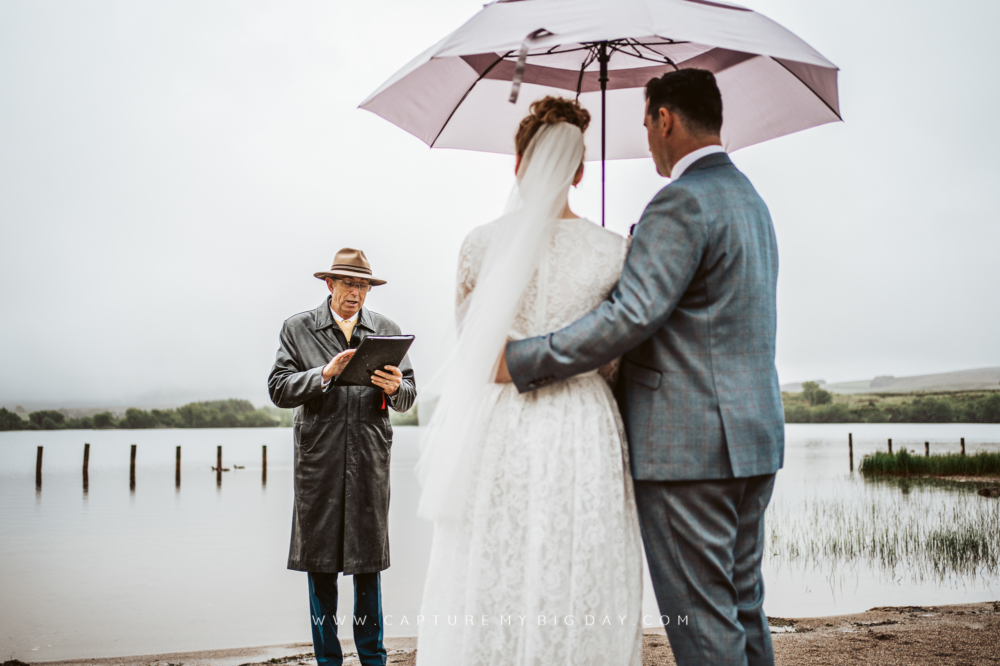 wedding ceremony in northern Ireland on beach