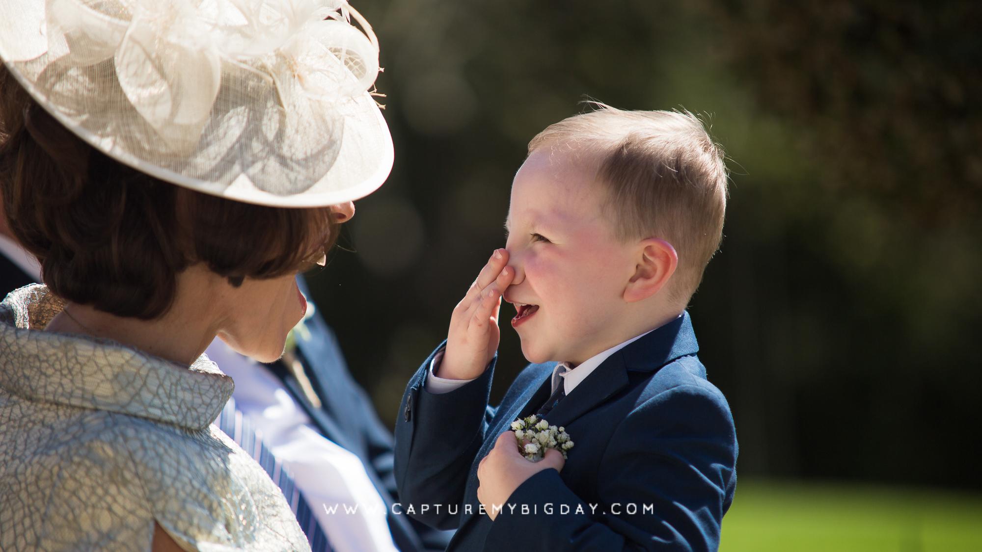 boy wedding guest
