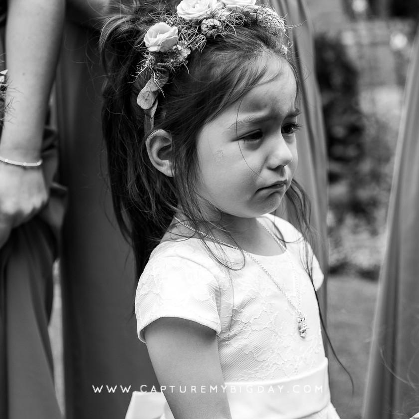 flower girl upset
