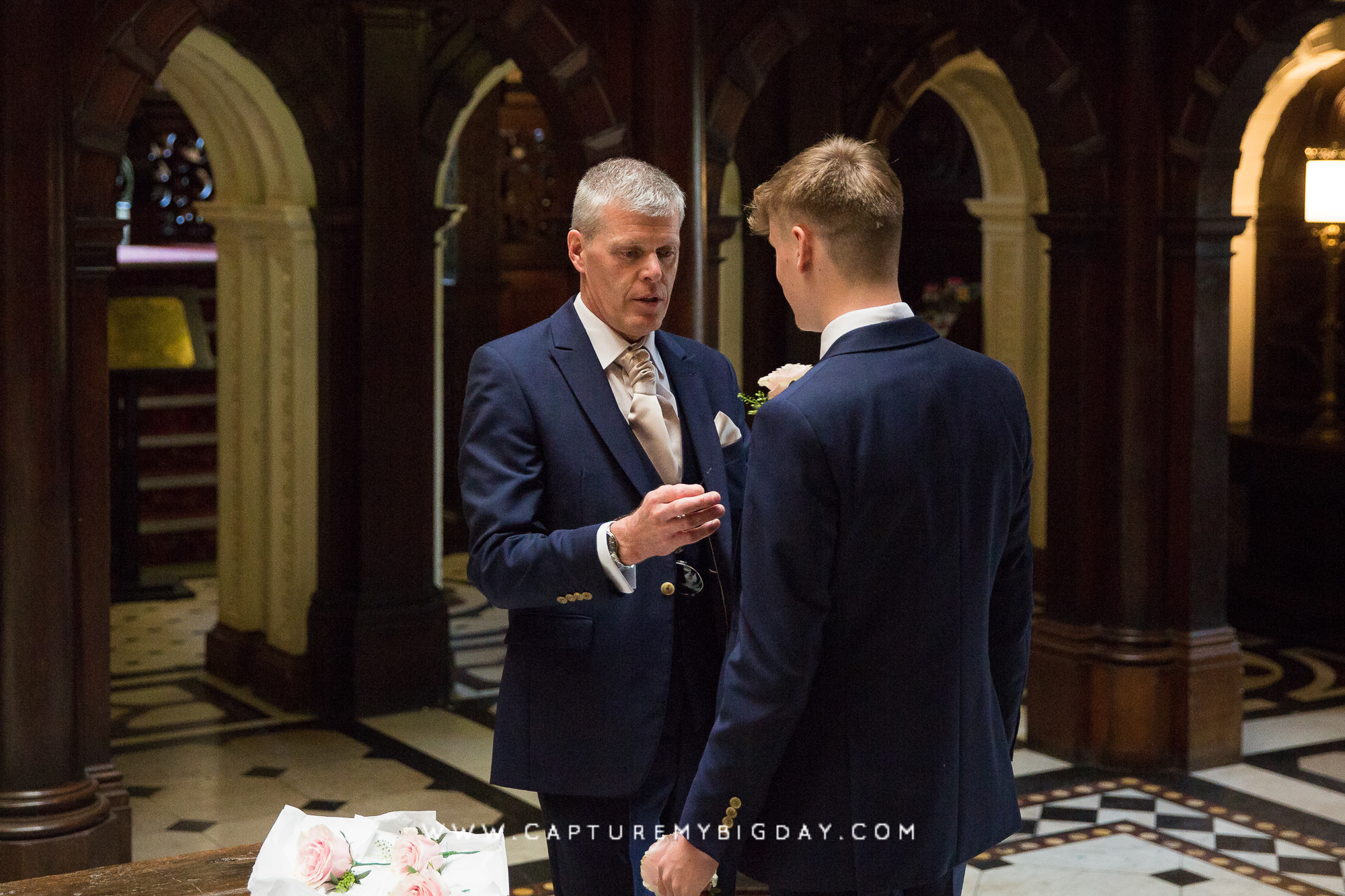 Groom and son at Crewe hall