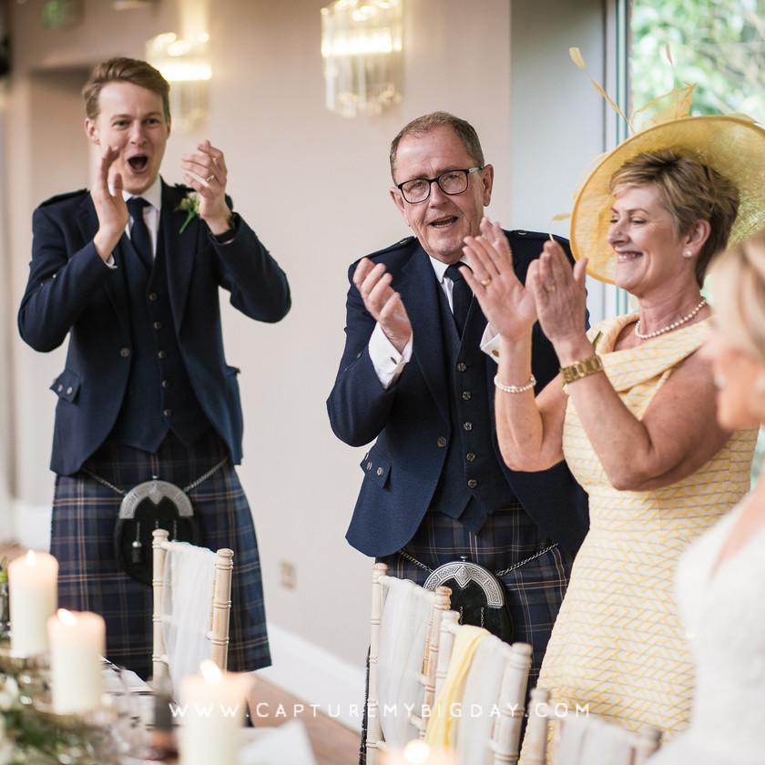 wedding breakfast clapping