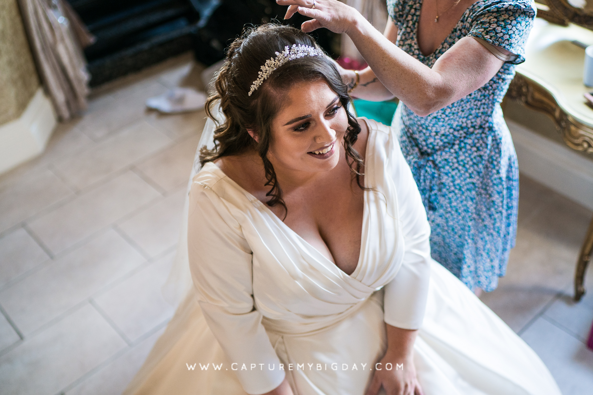bride getting ready at 30 James street