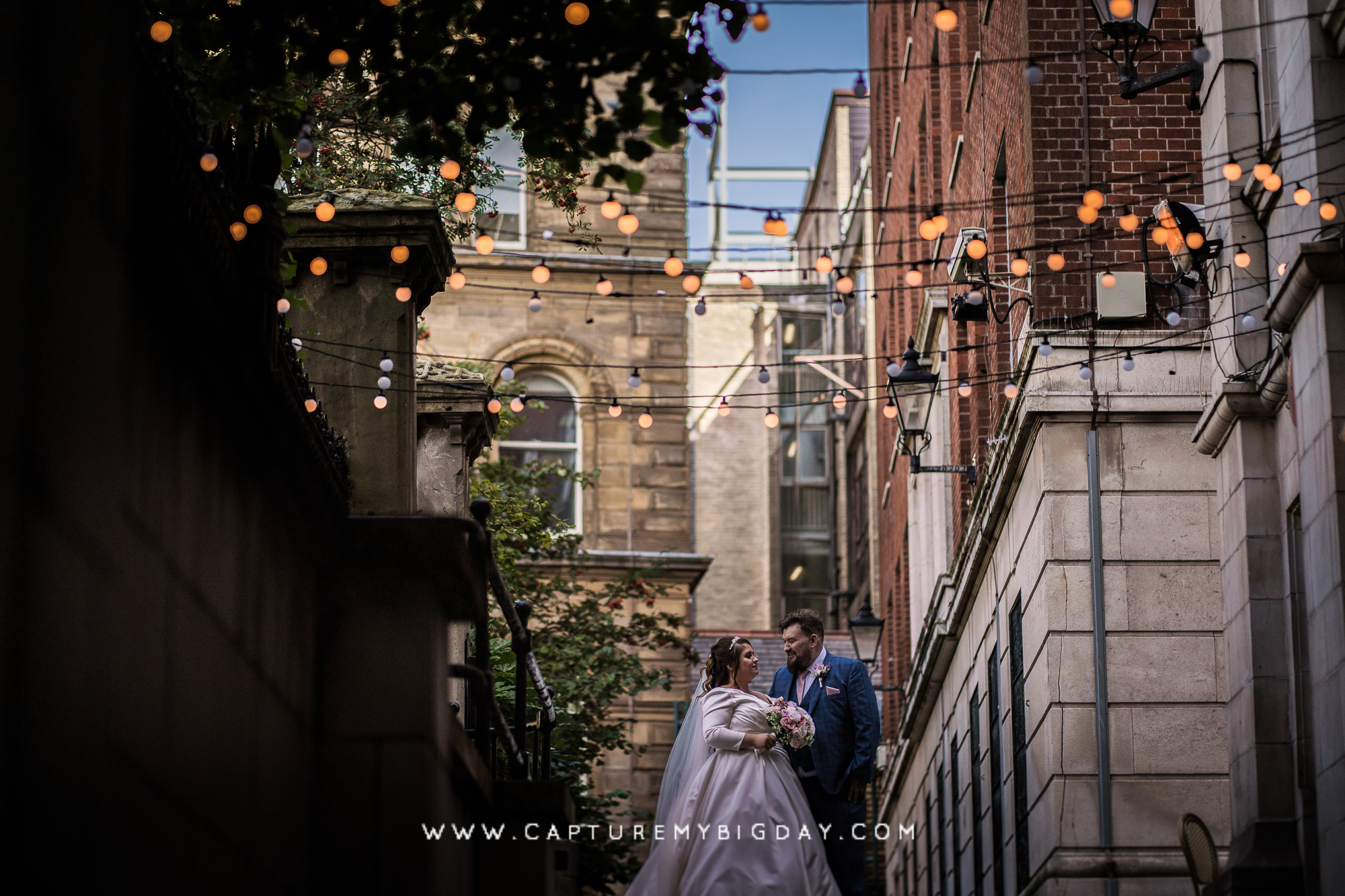 bride and groom just married in Liverpool