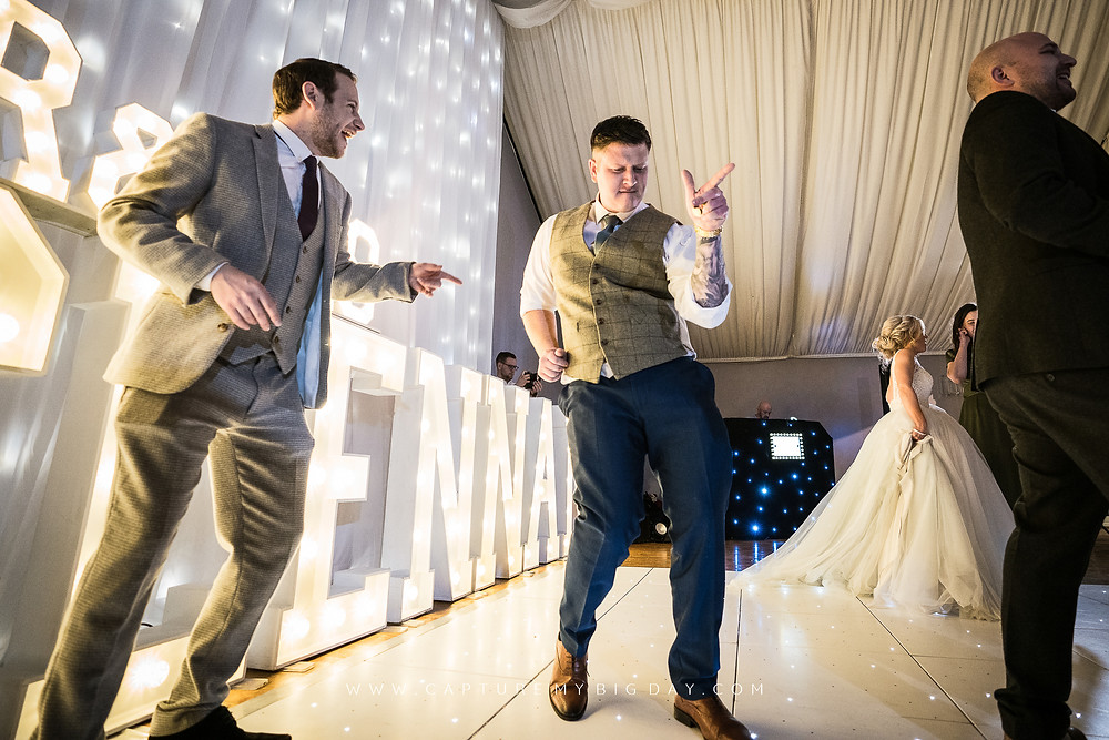 Man dancing at Cheshire Wedding venue