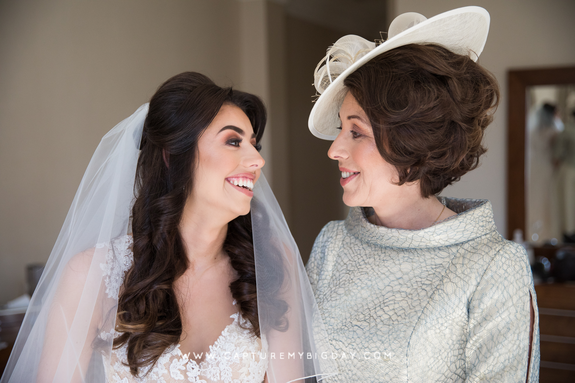 mother of the bride with bride
