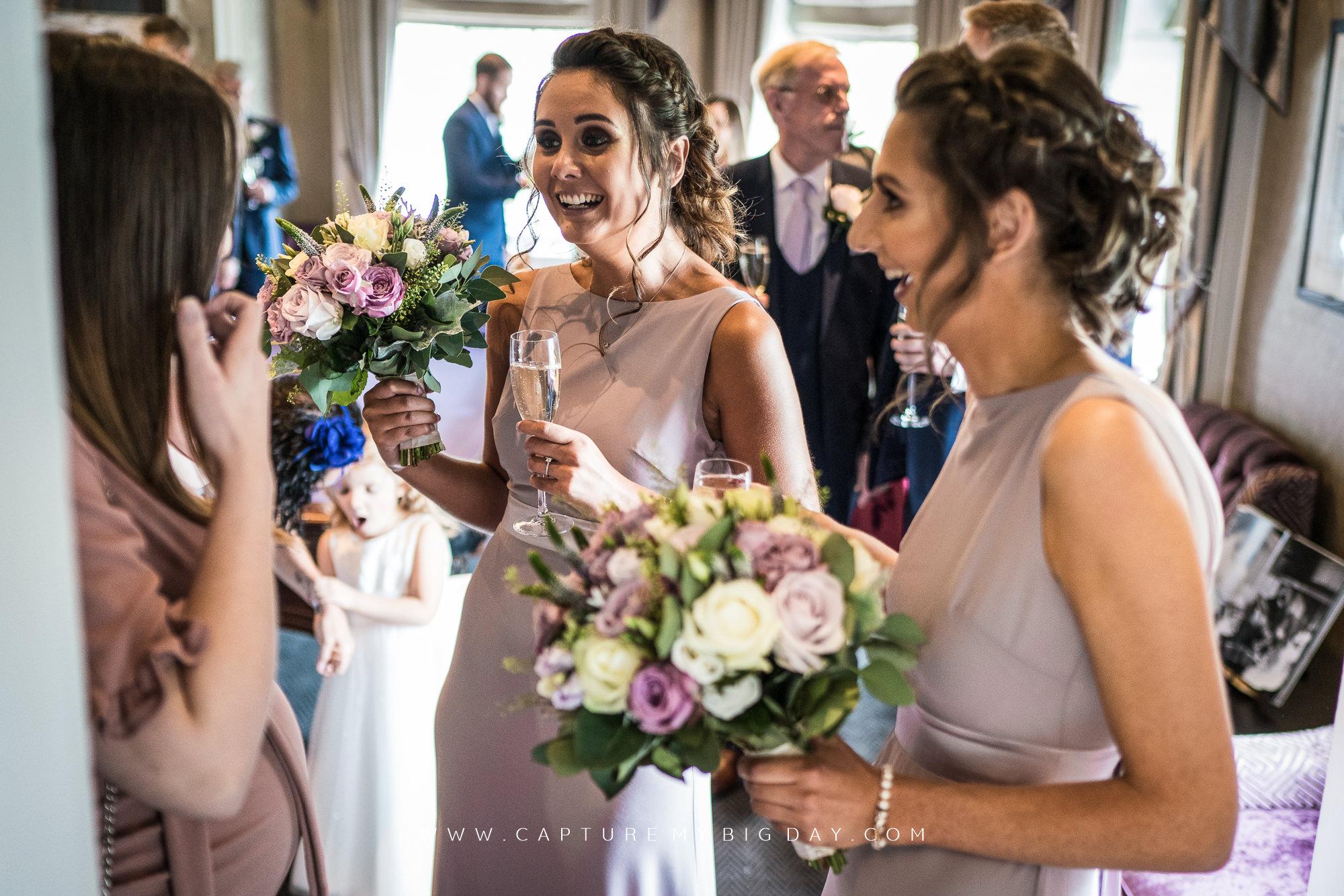 wedding guest drinking