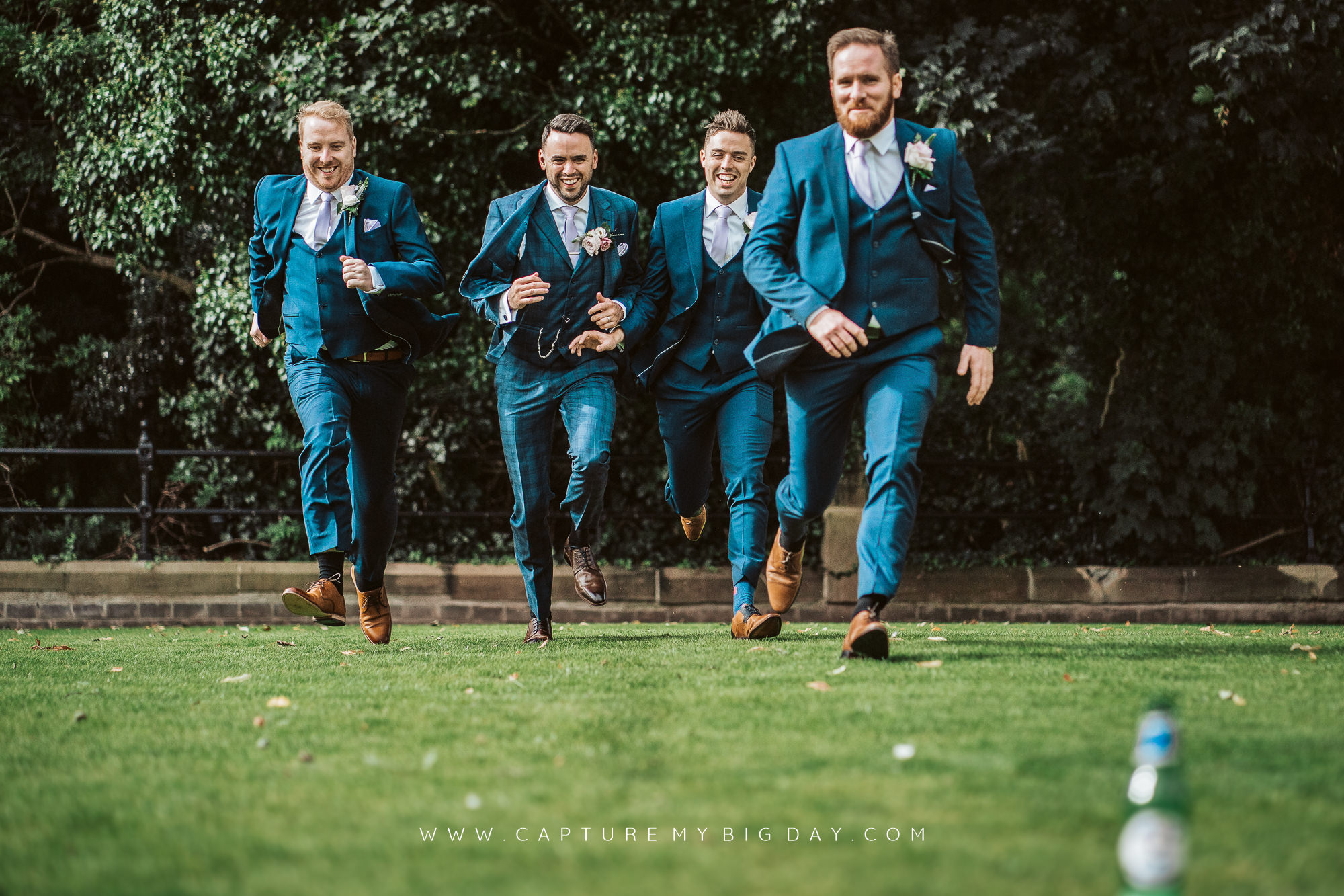 groom with mates ruining