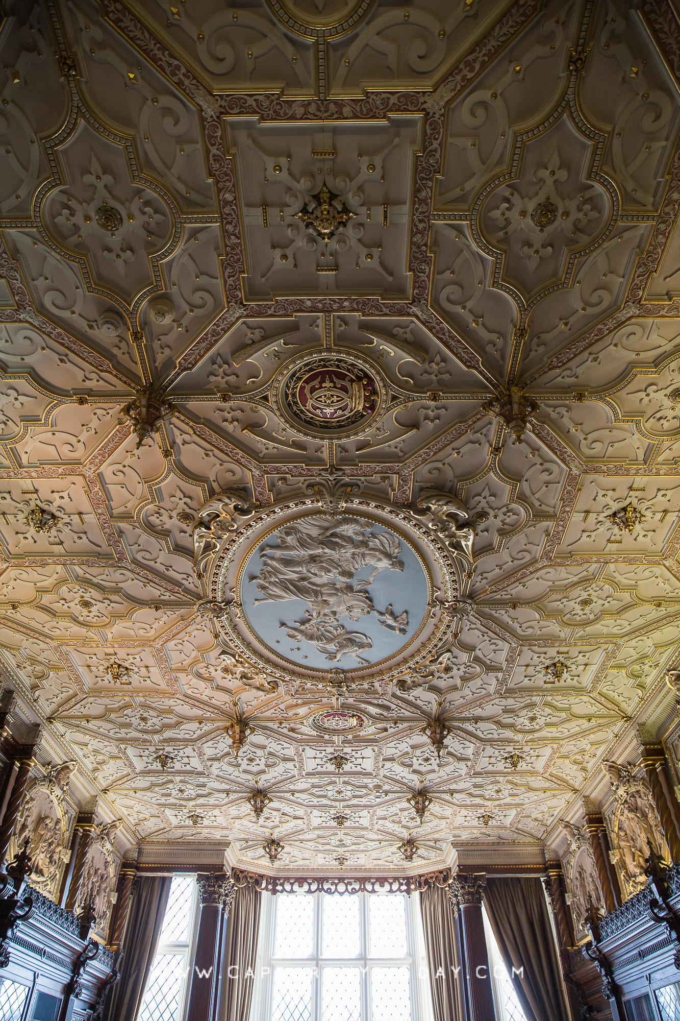 Crewe Hall ceiling