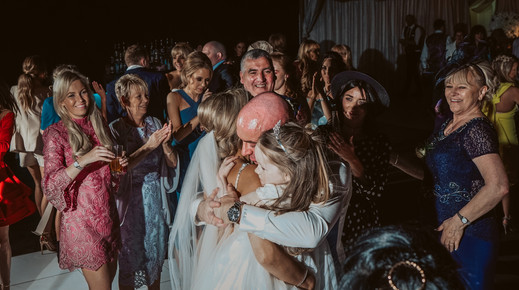 Dance floor with family