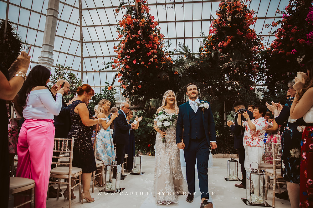 Just married at Palm House at Sefton Park
