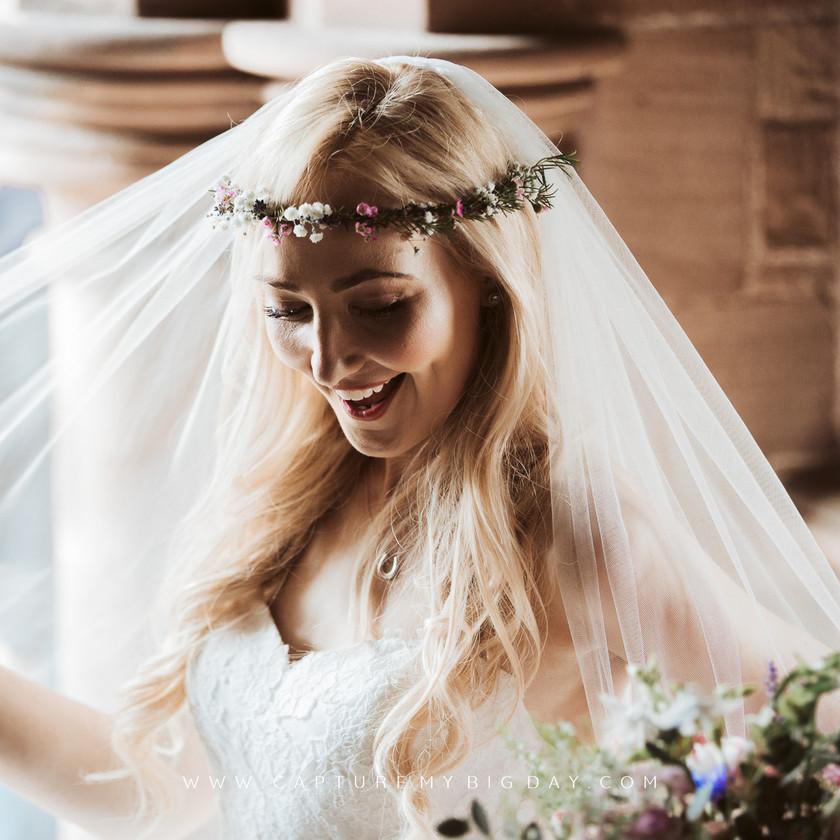 bride waiting at the church