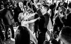 Bride and Gromm dancing