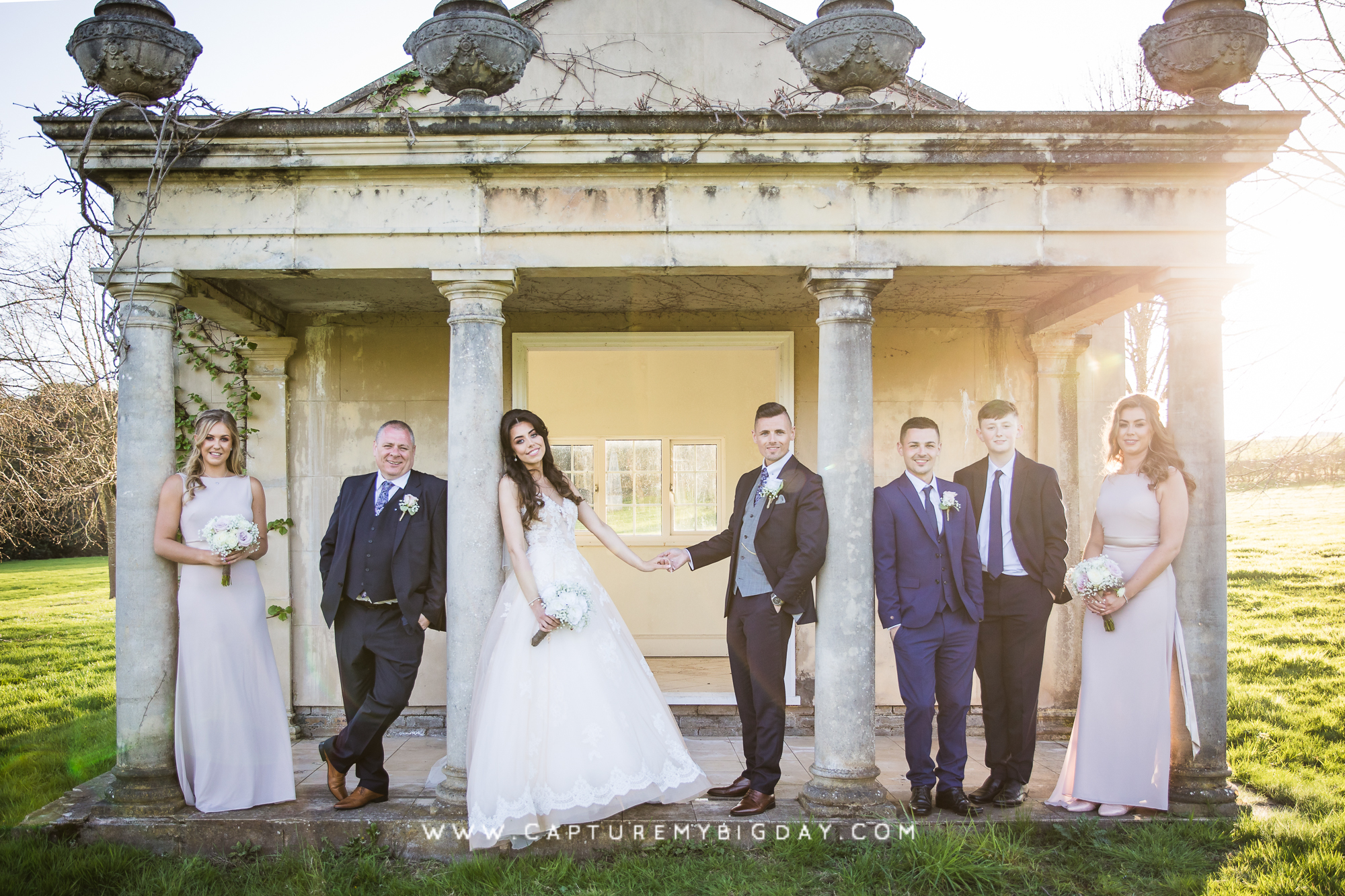wedding party at Delamere manor