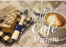 French Pastry Napoleon Kaladi coffee Lat