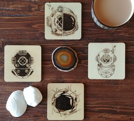 Custom coasters for one with adventure and exploration at heart.