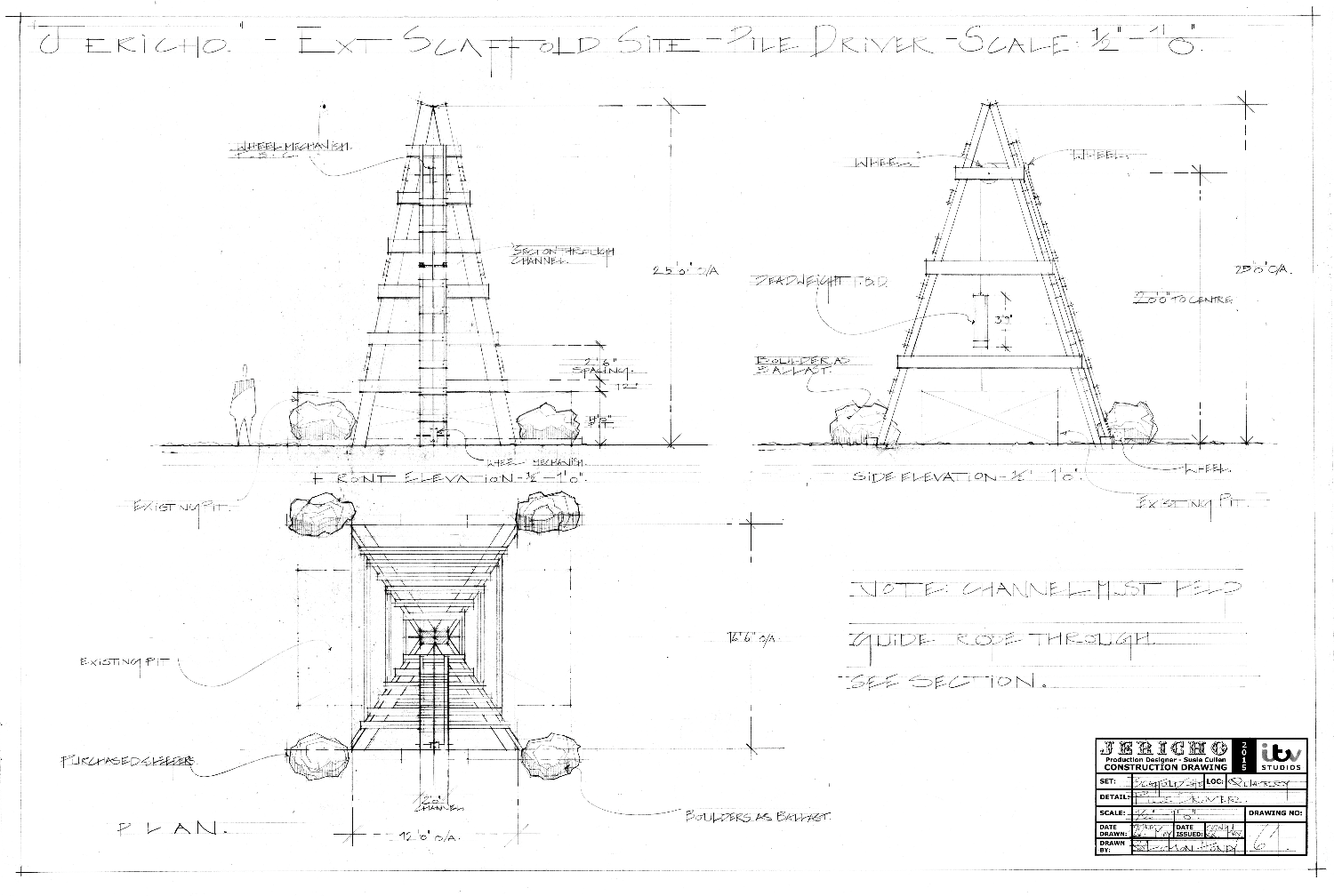 Drawing 64 - Ext Scaffold Site - Pile Driver Plan and Elevations_edited