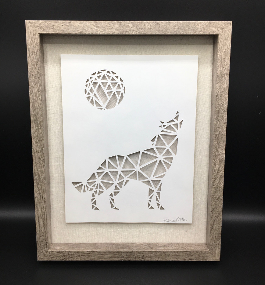 3D Wolf in Shadowbox_1