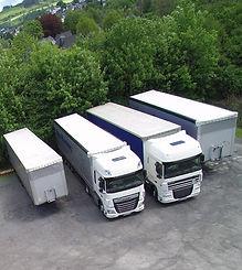 LKWs aus dem Fuhrpark Transporte Hartung