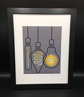 Framed/Matted Edison Bulbs