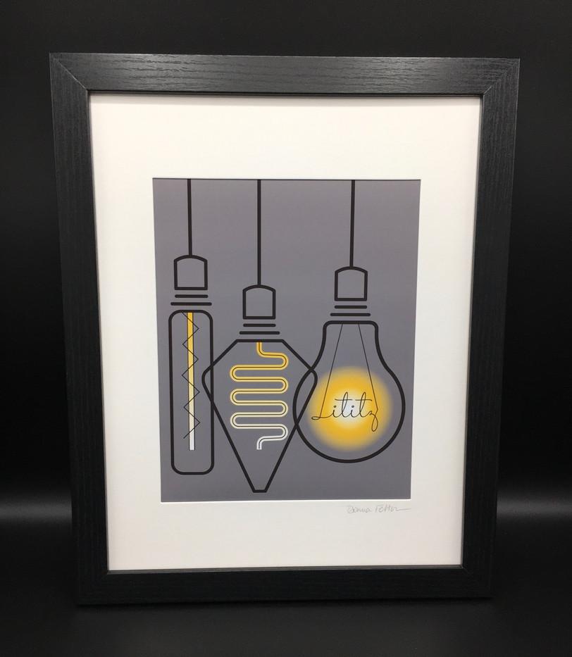Framed/Matted Edison Bulbs_1