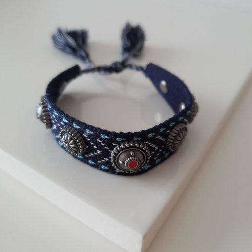 DR Blue Bang Knit Bracelet