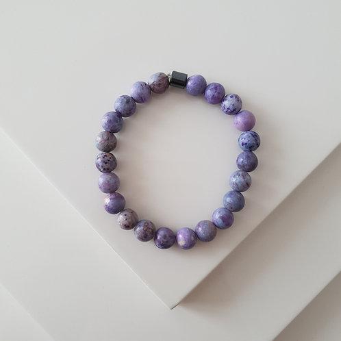 Purple Planet Kuvars Bileklik