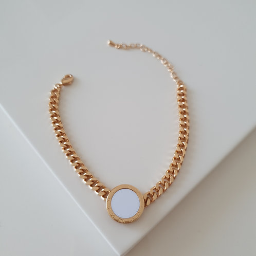 White Circle Imprint Bracelet