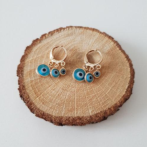 Multi Evil Eye Earrings