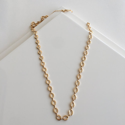 Vintage Oval Chain Necklace