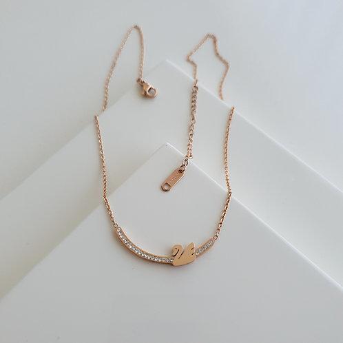 Gem Swan Necklace