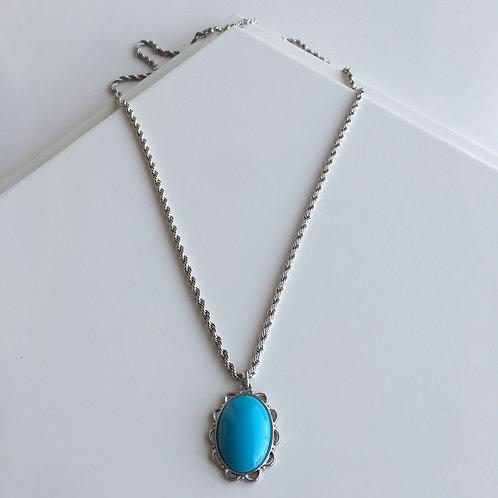 Blue Twirl Necklace