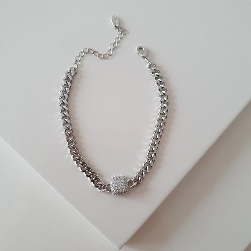 Zircon Cube Imprint Bracelet
