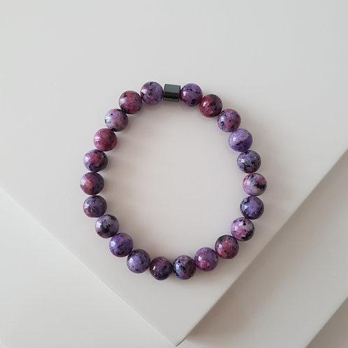 Purple Rock Kuvars Bileklik
