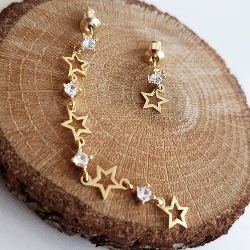 Star Solitaire Earrings