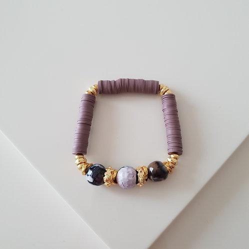 Purple Fimo Bileklik