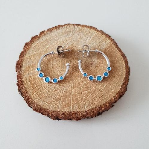 Blue Row Earrings