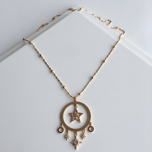 Ethnic North Star Necklace