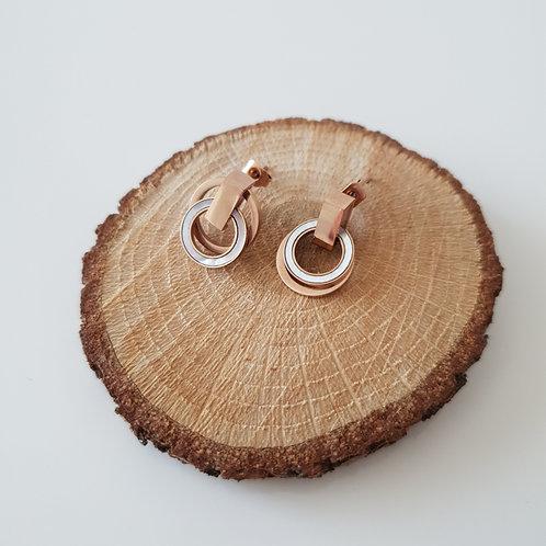 Double Ring Küpe
