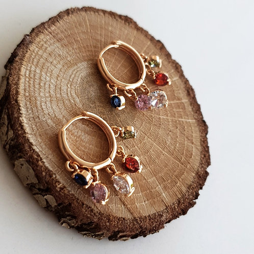 Shakira II Multicolor Earrings