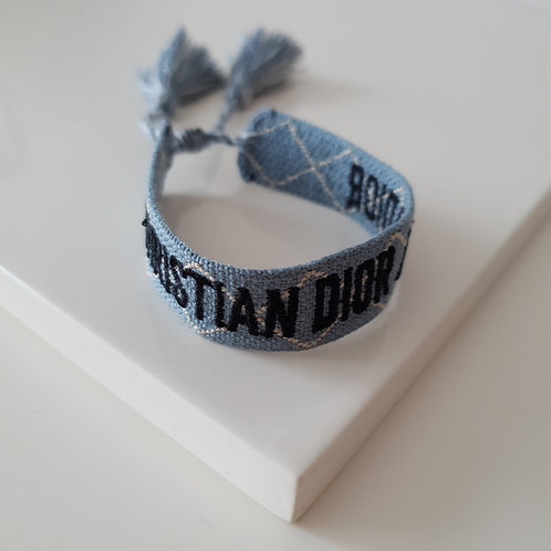 DR Blue Knit Bracelet