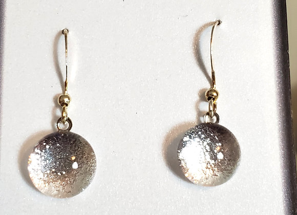 video of Dichroic glass Dangle dots (silver)