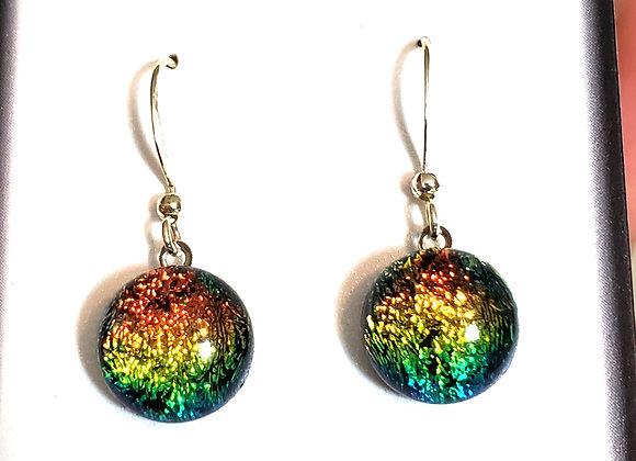 video of Dichroic glass Dangle dots ( rainbow)