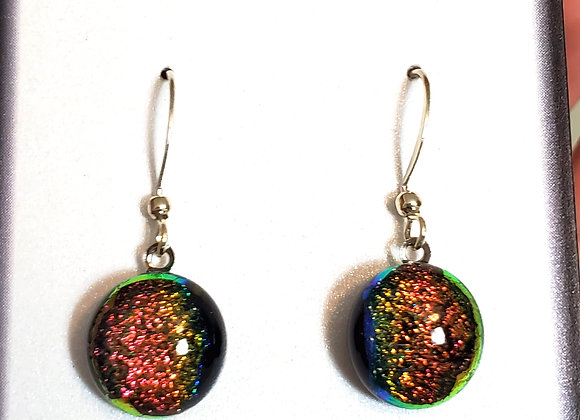 video of Dichroic glass Dangle dots (sunset)
