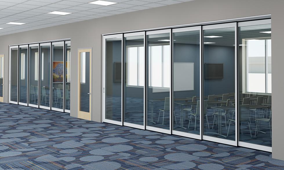 Hufcor_Classroom_Hallway v2 Alum_Flush_C